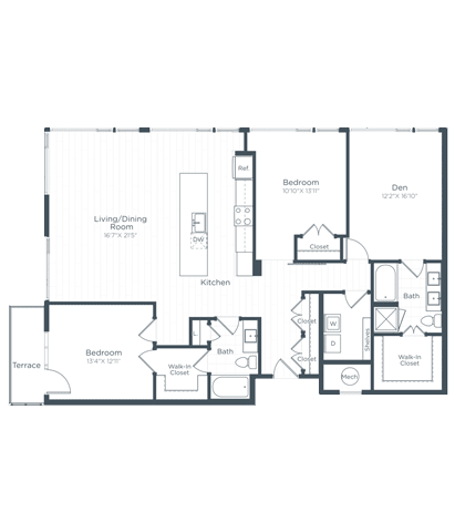 BD9 Floor Plan at Highgate at the Mile, McLean, 22102