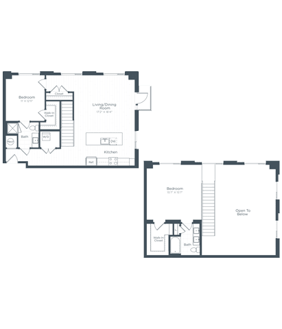 BL1 Floor Plan at Highgate at the Mile, McLean, Virginia