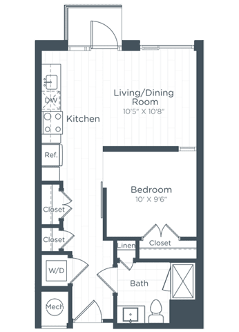 S2 Floor Plan at Highgate at the Mile, McLean
