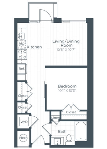 S2 Floor Plan at Highgate at the Mile, Virginia, 22102