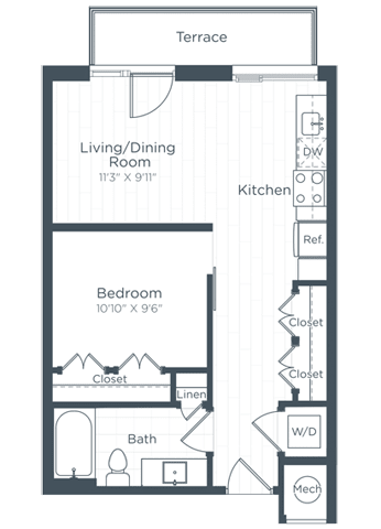 S3 Floor Plan at Highgate at the Mile, McLean, Virginia