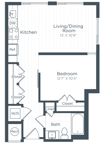 S6 Floor Plan at Highgate at the Mile, Virginia, 22102