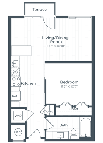 S7 Floor Plan at Highgate at the Mile, McLean, VA, 22102