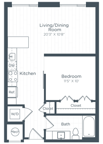 S7 Floor Plan at Highgate at the Mile, McLean, VA