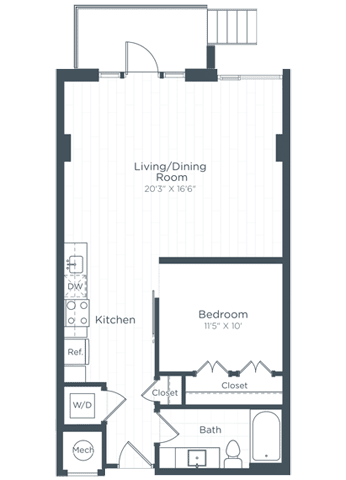 S8 Floor Plan at Highgate at the Mile, McLean, 22102