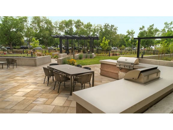 Community BBQ Grills at Cycle Apartments, Ft. Collins, 80525
