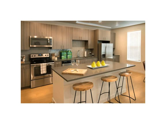 Gourmet Kitchen at Cycle Apartments, Colorado
