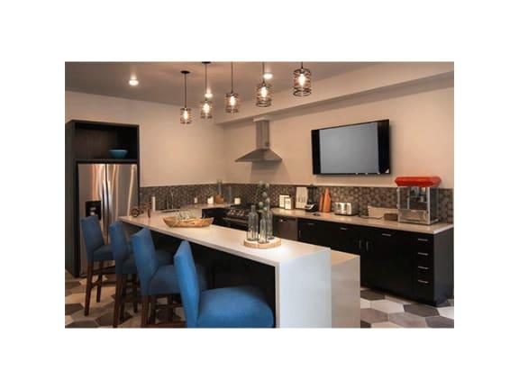 Lobby Kitchen at Cycle Apartments, Colorado, 80525
