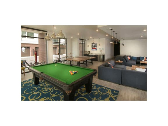 Billiards Table at Cycle Apartments, Colorado