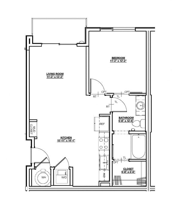 Elizabeth Floor plan at Cycle Apartments, Colorado, 80525