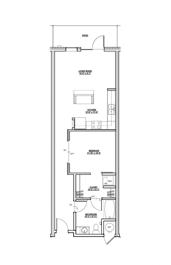 Azaela Floor plan at Cycle Apartments, Ft. Collins, CO 80525