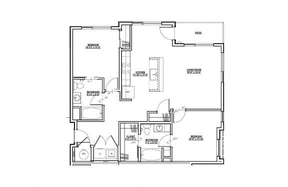 Avery Floor plan at Cycle Apartments, Ft. Collins, 80525