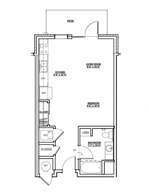 Stanford Floor Plan at Cycle Apartments, Ft. Collins