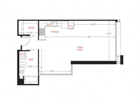 A-2 Floor Plan at Met Lofts, Los Angeles, CA