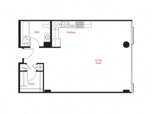 B-2 Floor Plan at Met Lofts, Los Angeles, CA, 90015