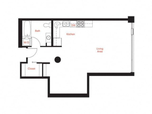 B-5 Floor Plan at Met Lofts, California