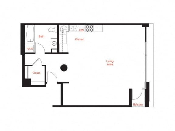 B-6 Floor Plan at Met Lofts, Los Angeles, 90015
