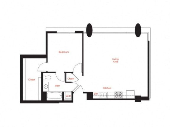 C-3 Floor Plan at Met Lofts, California