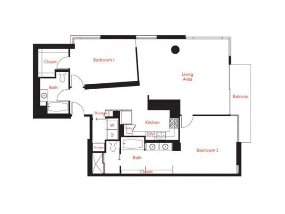 D-5 Floor Plan at Met Lofts, Los Angeles, CA