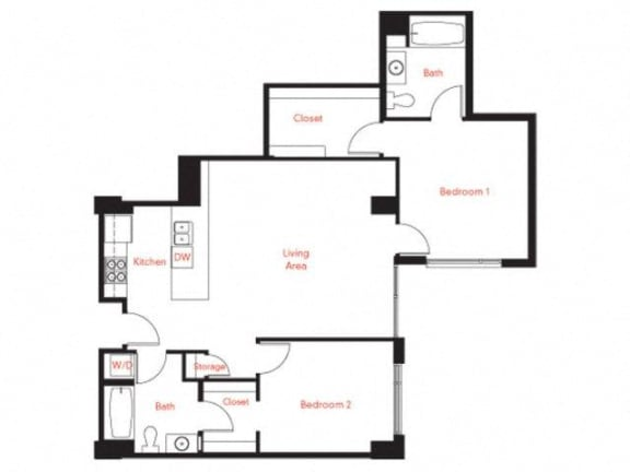 D-8 Floor Plan at Met Lofts, Los Angeles, California