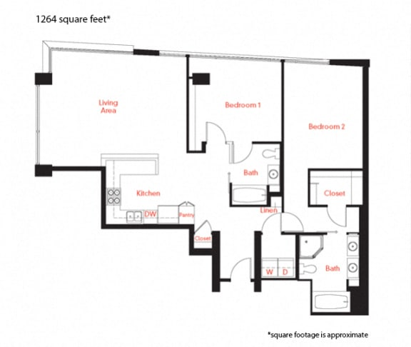 D-4b Floor Plan at Met Lofts, Los Angeles, 90015