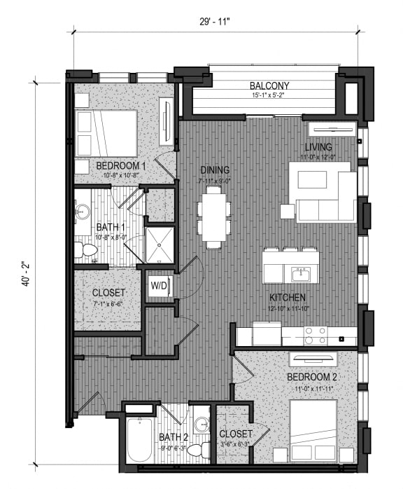 Floor Plan  The Brook 2I