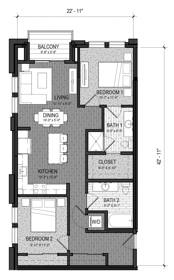 Floor Plan  The Confluence 2H