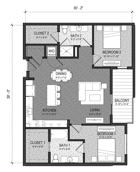 Floor Plan  The Whitewater 2B