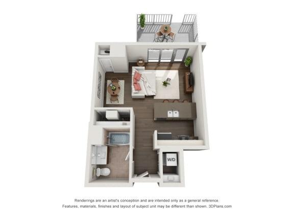 Plan C1 Floor Plan at The Madison at Racine, Illinois