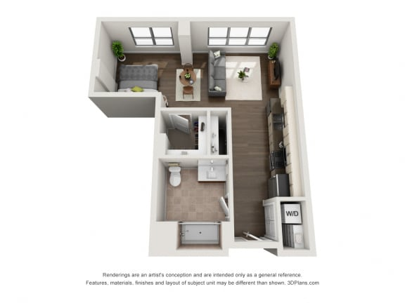 Plan C2 Floor Plan at The Madison at Racine, Illinois, 60607
