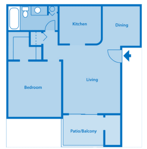 Estancia 1A One Bedroom Floor Plan