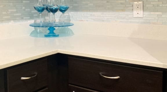 Quartz counter tops at La Reserve Villas in 85737