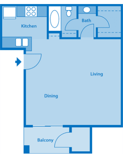 Sycamore Creek Studio Floor Plan