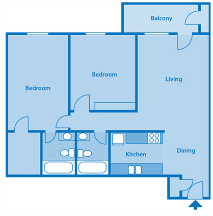 Tanglewood Two Bedroom Floor Plan