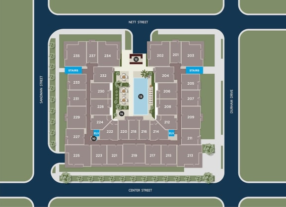 Slate Floor Plan at Azure Houston Apartments, Houston