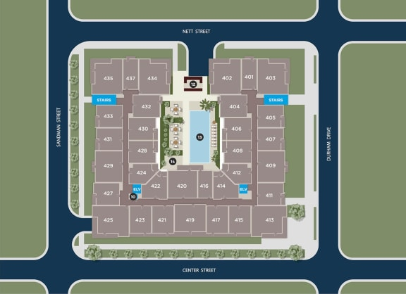 Cobalt Floor Plan at Azure Houston Apartments, Houston, TX, 77007