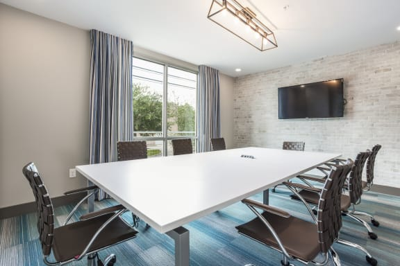Business Center With Conference Room at Azure Houston Apartments, Houston