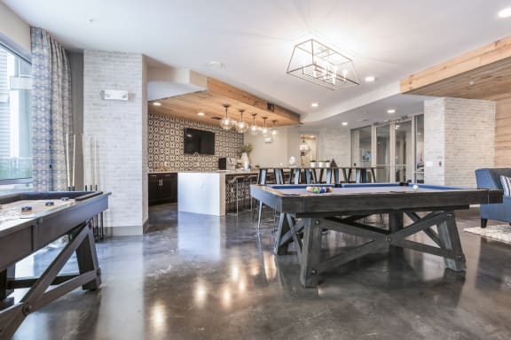 Game Room at Azure Houston Apartments, Texas