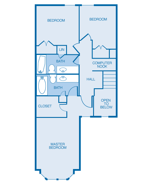 3TH 2nd Floor Plan at The Legends at Indian Springs, Kentucky