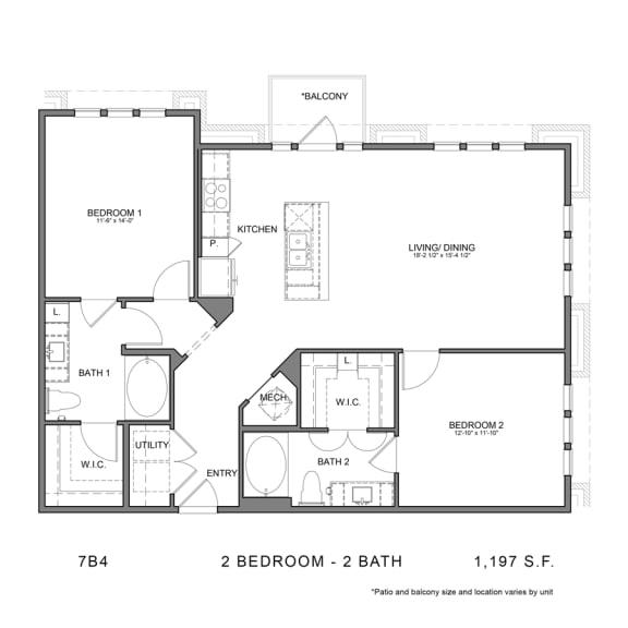 Floor Plan  7B4
