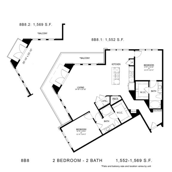 Floor Plan  8B8