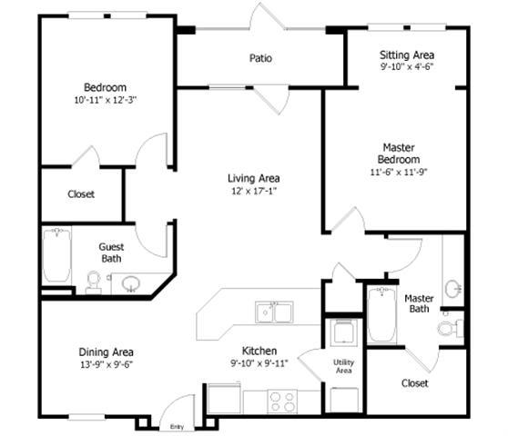Floor Plan  3B2