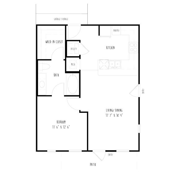 A4G: 1Bedroom, 1 Bathroom