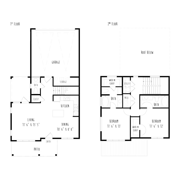 THB5: 2 Bedroom, 2.5 Bathroom, 2 Car Garage Townhome