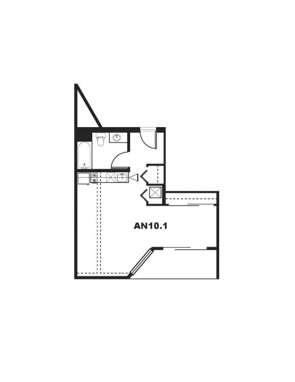 AN10.1 Floor Plan at One Santa Fe Residential, Los Angeles, CA
