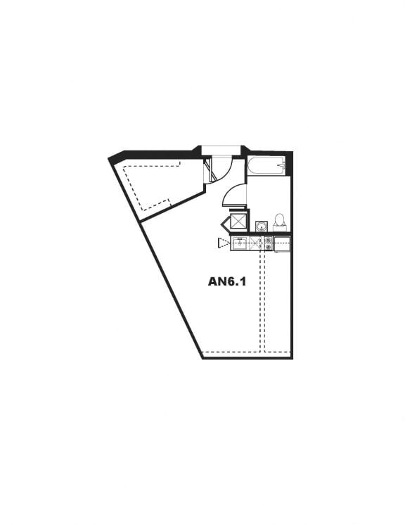 AN6.1 Floor Plan at One Santa Fe Residential, Los Angeles