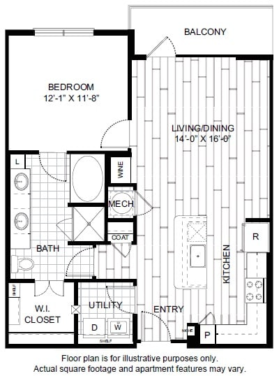 Floor Plan  A10 Floor Plan at Windsor CityLine