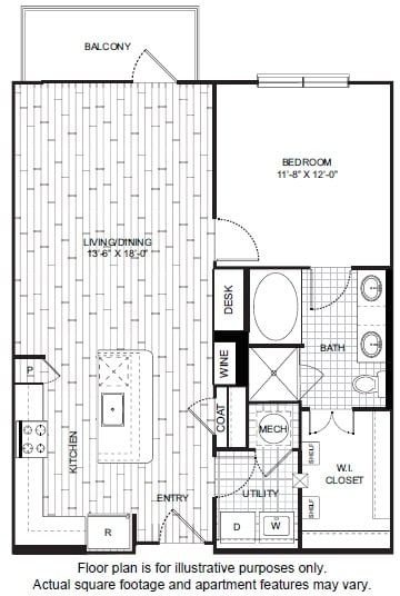 Floor Plan  A11 Floor Plan at Windsor CityLine