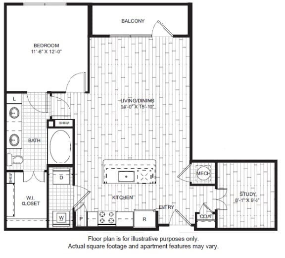 Floor Plan  A14 Floor Plan at Windsor CityLine