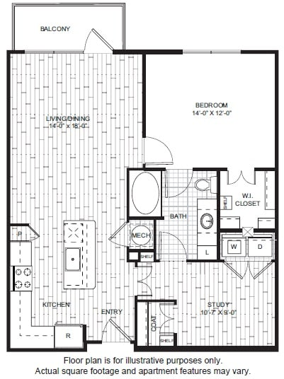 Floor Plan  A16 Floor Plan at Windsor CityLine